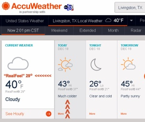 AccuWeather for Livingston, Texas