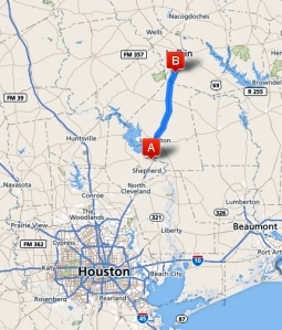 Livingston to Lufkin