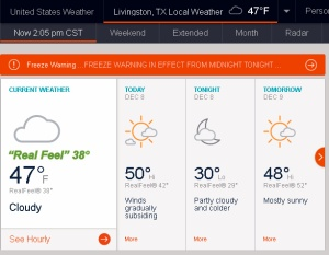AccuWeather says Real Feel is thirty-eight