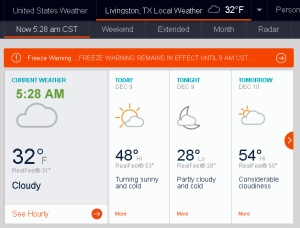 AccuWeather at five-thirty