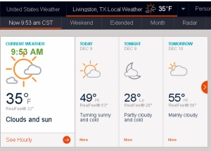 AccuWeather at nine-fifty