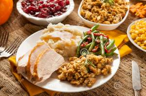 homemade-turkey-thanksgiving-dinner-mashed-potatoes-stuffing