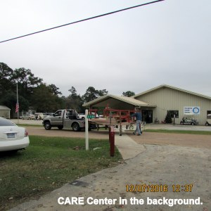 CARE Center in the background