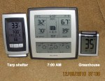 My thermometers at seven AM