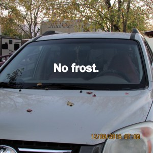 No frost at seven AM