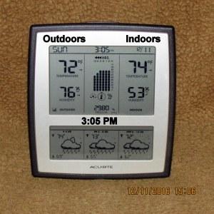 Temperature at three PM