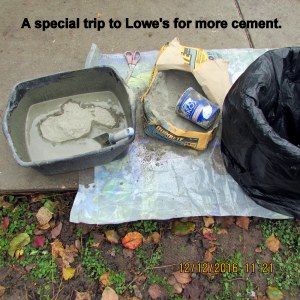 Trip to Lowe's for cement
