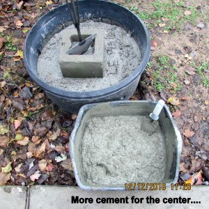 More cement for the center