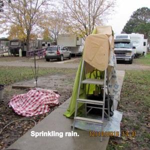 Sprinkling rain