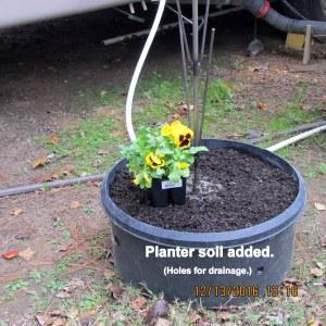 Planter soil added