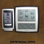 Temperature at nine PM Sunday