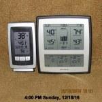 Temperature at four PM Sunday