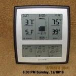 Temperature at six PM Sunday