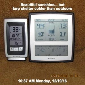 Temperature at ten-thirty Monday