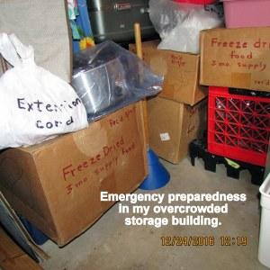 Emergency preparedness in my overcrowded storage building