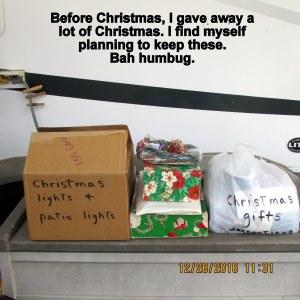 Saving Christmas items