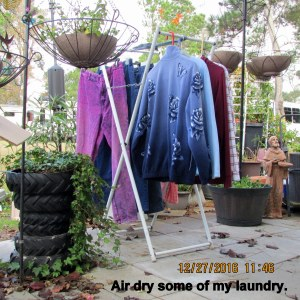 Air dry laundry