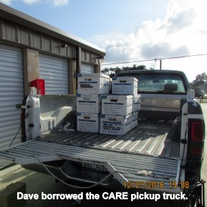 CARE pickup truck