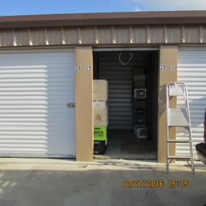 Wide view of storage unit
