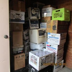 Inside the neighbor's storage building