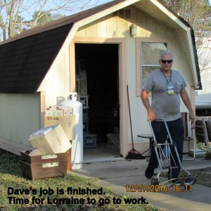 Dave's job is finished