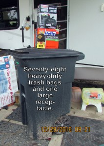 Seventy-eight trash bags
