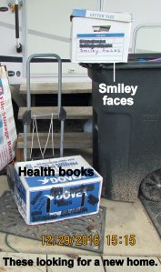 Health books and Smiley Faces