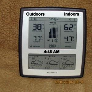 Temperature at six