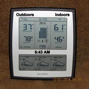 Temperature at seven