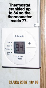Thermostat at 84
