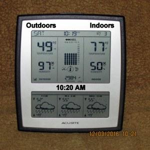 Temperature at ten-twenty