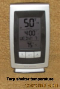 New thermometer at four AM