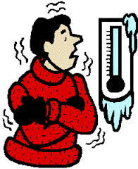 Looking at freezing thermometer