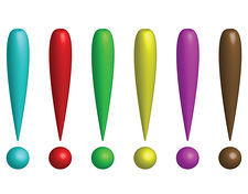 exclamation-marks-in-several-colors