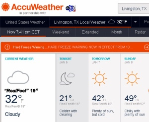 AccuWeather at seven-thirty PM