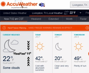 AccuWeather at seven AM