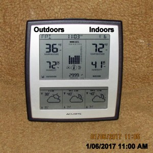 Temperature at eleven AM