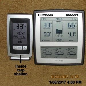 Temperature at four PM
