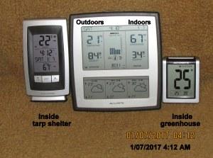 Temperature at four AM
