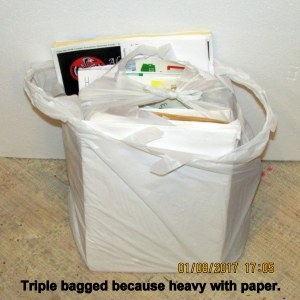 Triple bagged trash