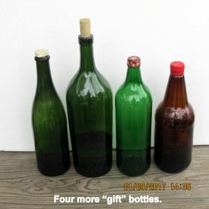 Four gift bottles