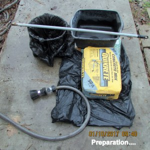 Preparation for cement base