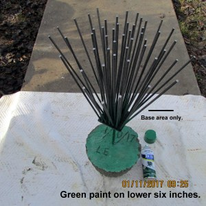 Green spray paint