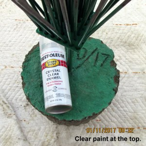 Clear spray paint