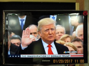 Donald Trump taking oath of office (2)