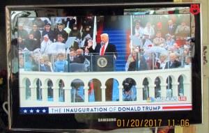 Trump speech with wide background