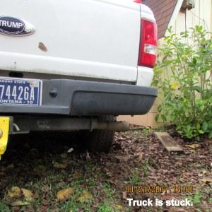 Truck is stuck