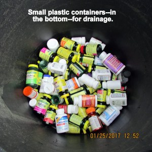 Lots of small plastic containers