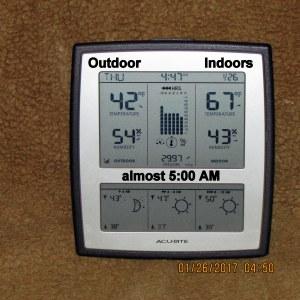 Temperature before 5 AM