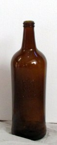 Brown Rum bottle (indoors)